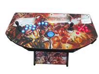 350 2-player, blue buttons, blue trackball, red buttons, x-men, marvel, capcom